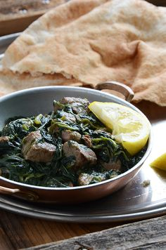 Molokhia Waraq an ancient Egyptian dish for royalty. It's a little earthy like spinach but with a texture more similar to okra. Middle East Food, Middle Eastern Recipes, Molokhia Recipe, Palestinian Food, Beef Recipes, Cooking Recipes, Egyptian Food, Egyptian Recipes, Lebanese Recipes