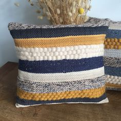 Hand woven cushion Scandinavian style - to order hand woven scandi style cushion made to order Diy Pillow Covers, Diy Pillows, Decorative Pillows, Throw Pillows, Handmade Cushions, Weaving Loom Diy, Hand Weaving, Peg Loom, Crochet Cushions