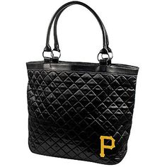 MLB Pittsburgh Pirates Quilted Tote, Black by Little Earth. $23.46