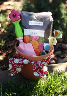 Flower Planting kit for kids - I need to make something like this for AHG