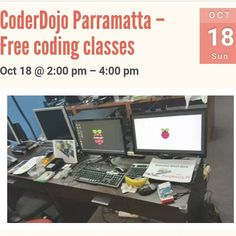 Something we loved from Instagram! Don't forget that the coderdojo is on today at Parramatta. This is for children aged 7 til 17. Parental supervision is mandatory for kids who are 15 and under. This is a free coding class. You must register. Visit rydekids.com for me information.  #rydekids #whatsoninsydney #whatsonforkids #whatsoninparramatta #code #coding #codingclasses #scratch #html #css #javascript #python #php #raspberrypi #freelearning #problemsolving #encouraging…