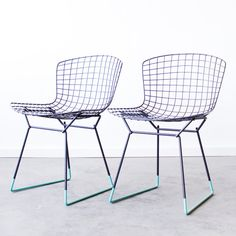 BERTOIA x Cast Crew KNOLL Custom Dipped Wire Side by castandcrew