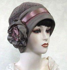 Womens 1920 s Gatsby Art Deco Vintage Style Cloche Hat 18d644217861