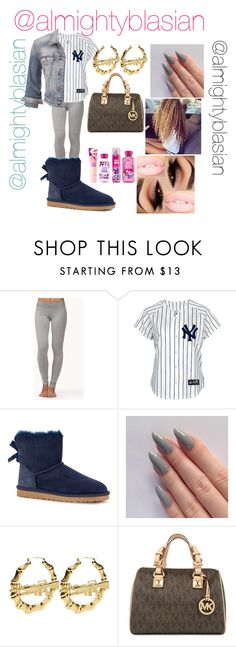 """Untitled #284"" by nayatheprincess ❤ liked on Polyvore featuring Forever 21, UGG Australia, Michael Kors and maurices"