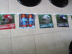 ALL NFL TEAMS FOOTBALL BUD LIGHT DOUBLE SIDED PENNANTS 680 INCHES LONG NEW