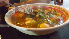 Tum Zap is a common soup found on the street and in many Thai Restaurants throughout Thailand.  The soup is sour with lime juice and can be quite spicy...