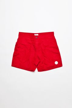 Saturdays - Notebook Print Trunk Board Shorts Red | TRÈS BIEN SHOP