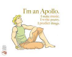 Greek God Apollo Art Print // I'm an Apollo by LipsticKissPress, $10.00