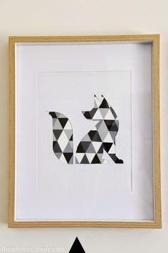 Make It: DIY Geometric Animal Wall Art » Curbly | DIY Design Community