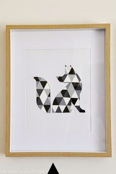 Make It: DIY Geometric Animal Wall Art » Curbly | DIY Design Community