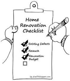 Home Renovation Checklist ~ Diva's Home Interior & Renovation Blog