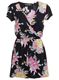 Short Sleeve Hawaiian Playsuit - Playsuits & Jumpsuits - Clothing