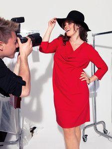 burda style: Plus - Kleider & Tuniken - Kleider - Shirtkleid - Wasserfallausschnitt