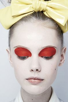 Red eye makeup - editorial style