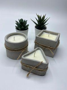 Unique Candles, Floating Candles, Diy Candles, Candle Molds, Candle Set, Cement Pots, Concrete Planters, Concrete Crafts, Industrial Farmhouse