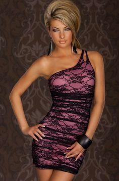 Vestido corto de encaje 26.40€ http://www.lenceriaonline.es/vestido-corto-encaje-lila.html