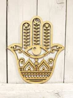 Hamsa Fatima - laser cut wood sign Laser Cut Wood, Laser Cutting, Fence Panels, Hamsa, Wood Signs, Vinyl Decals, Creative, Painting, Concept