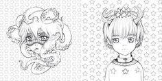 Výsledek obrázku pro pop manga coloring pages