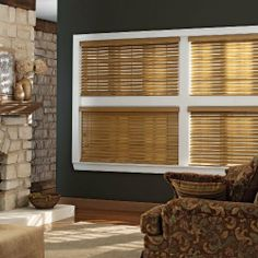 """Wood Blinds Group One by Trader Blinds. $46.00. Heavy duty steel headrail. 2"""" slats crafted of the finest North American hardwood. Inside or outside mount. Limited lifetime warranty. Trapezoid bottom rail. Crafted from North American hardwoods and featuring unique stain and paint choices. The wood in these shades is known for its light weight, consistent color, hardness, structural stability and attractive grain. Choose from 12 colors."""