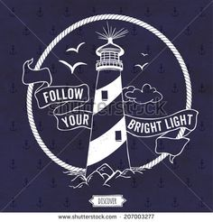 Lighthouse. Nautical vector illustration.