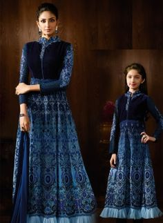 designer Same Outfits For Mom/baby girl Online Canada,Mother Daughter Combo Long Anarkali Suit Mother Of Groom Dresses, Mothers Dresses, Girls Dresses, Indian Dresses, Indian Outfits, Mom Daughter Matching Dresses, Lehenga Style Saree, Lehenga Choli, Mother Daughter Fashion
