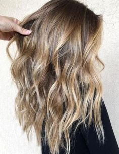 Golden Blonde Balayage for Straight Hair - Honey Blonde Hair Inspiration - The Trending Hairstyle Hair Color Balayage, Hair Highlights, Honey Highlights, Dirty Blonde Hair With Highlights, Highlighted Hair For Brunettes, Blonde Color, Highlights For Brunettes, Hair Bayalage, Hair Color Ideas For Brunettes Balayage