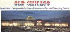 """Old Chicago was a combination shopping mall and indoor amusement park that existed in the Chicago suburb of Bolingbrook, Illinois, from 1975 until 1980. It was billed as """"The world's first indoor amusement park"""", an enormous building, housed major rides, such as a roller coaster and a Ferris wheel, as well as a turn-of-the-century themed shopping mall."""