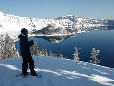 Crater Lake gets 44 feet of snow per year. Why not put your snow shoes on and witness the beauty?