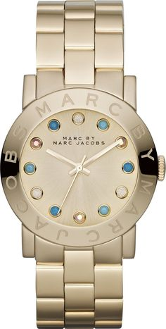 women's watches | Gold watches 4 women Marc by Marc Jacobs MBM3215 Ladies Gold Amy Watch