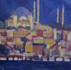 Claudio Fornas - Istambul blu- www.openarte.it