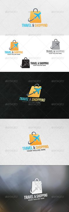 Travel and Shopping  - Logo Design Template Vector #logotype Download it here: http://graphicriver.net/item/travel-and-shopping-logo-template/7246414?s_rank=1385?ref=nesto