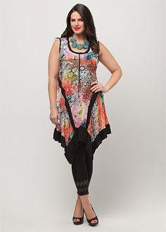 Plus Size Dresses Online | Dresses - Plus Size, Large Size Dresses for Australian Women - FLORAL FEVER DRESS - TS14
