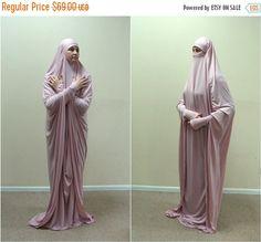 Transformer blush Khimar Maxi dress, Transformer pink hijab, flamingo nikab,traditional hijab, ready to wear hijab, prayer Dress, Maxi Burqa, Elegant burqa
