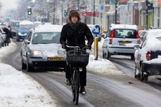 Fietspad onbegaanbaar. Winter Cycling, Holland, Bike, The Nederlands, Bicycle, The Netherlands, Bicycles, Netherlands