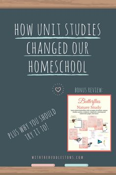 How Unit Studies Changed Our Homeschool + Why You Should Try It Too As homeschooling evolves, there are more and more methods and styles surfacing. One of the newest methods is known as the Unit Study Method Study Methods, Nature Study, Home Schooling, Homeschool Curriculum, Learning Resources, School Resources, School Fun, High School, Unit Studies