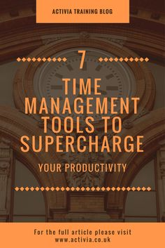 Time can be a really hard thing to manage! But with these 7 tools it can become easier!