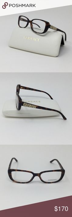 Authentic VERSACE Crystal frames w/ demo lenses Authentic VERSACE3178-B 944 Crystal Havana Eyeglasses with demo lenses  Authentic VERSACE Classic Havana Tortoise plastic frame that features crystals on the sides of the temples with clear demo lenses. These frames can be customized with your prescription.  Frame color: 944 Havana Tortoise  Size :53-16 135  Includes: Eyeglassespictured, cleaning cloth & authenticVERSACE Hard case.  MSRP: $280 Versace Accessories Glasses