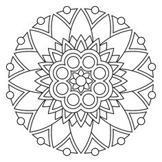 Great site with lots of printable and downloadable mandala PDFs to color.