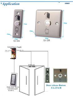 Stainless steel panel door release/push button
