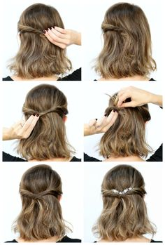 The romantic twist hairstyles прически Pulled Back Hairstyles, Twist Hairstyles, Down Hairstyles, Straight Hairstyles, Wedding Hairstyles, Pretty Hairstyles, Hairstyle Ideas, Simple Curled Hairstyles, Easy Hairstyles For Prom
