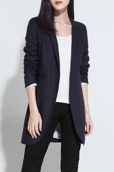 Blazers For Women - Shop Black & Causal Blazers Online Casual Blazer Women, Blazers For Women, Long Black Blazer, 90s Fashion, Fashion Outfits, Fashion Ideas, Office Outfits, Work Outfits, Sewing
