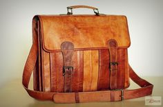 Leather Briefcase 16 / Leather Messenger Bag / Laptop by EpicLinen, $94.00