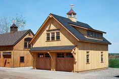 Garage To Living Space, Garage Guest House, Carriage House Garage, Garage Room, Barn Garage, Garage Plans, Timber Frame Garage, Timber Door, Timber Frame Homes