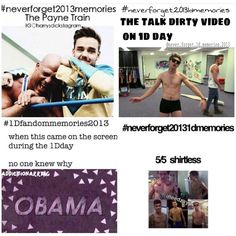 #neverforget20131dmemories More 1D Day! OBAMAAAAAAAA bahahaha! i remember!