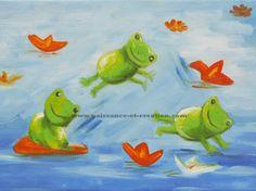 Jolie peinture à l'huile colorée pour une chambre d'enfant. Huile sur toile peinte à la main. Toile en lin tendue sur châssis épicéa premier choix.