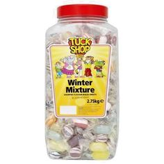 GBP - Tuck Shop Winter Mixture Jar Of Sweets Kids Wholesale Discount Treat & Garden Jars Of Sweets, Easter Presents, Congratulations Gift, Halloween Party, Christmas Gifts, Treats, Food And Drink, Winter, Shopping