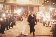 Classic Oaks Ranch Sparkler Wedding Grand Exit