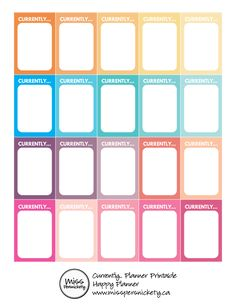 "FREE ""Currently"" Free Planner Printable for Happy Planner or Erin Condren's LifePlanner!"
