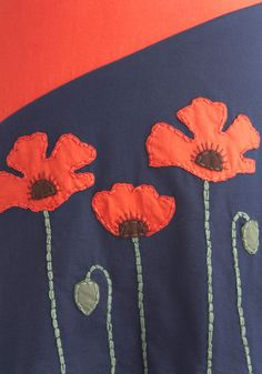 modcloth poppy frock dress...emulate poppy appliques?