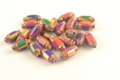 70 Vibrant Colourful Paper Beads  RECYCLED by ChezChaniSupply, $4.00